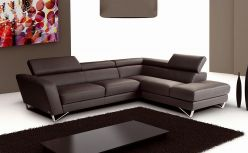 Novo Leather Sectional / Brown