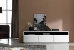 TV023 WHITE GLOSS TV STAND