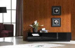 TV027 BLACK HIGH GLOSS TV STAND