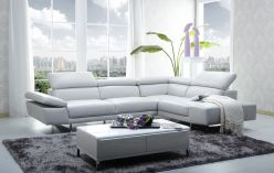 City Leather Sectional