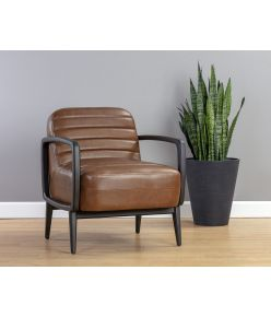 Andria Lounge Chair / Tobacco