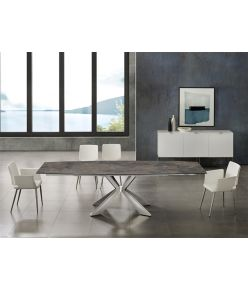 Egeo Motorized Table / Brown Ceramic
