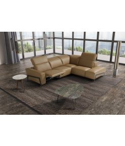 Aida Recliner Leather Sectional