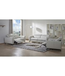 Milan Recliner Sofa / Light Grey