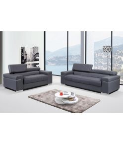 Lotto Leather Sofa / Grey