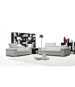Lotto Leather Sofa / White