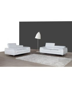 Lara Leather Sofa / White