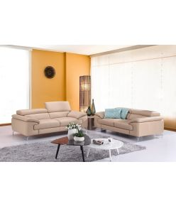 Lara Leather Sofa / Beige