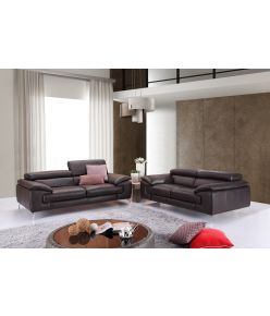 Lara Leather Sofa / Brown