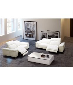 Salerno Recliner Sofa / White