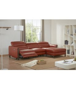 Megan Recliner Sectional / Rust