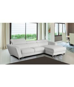 Ivy Leather Sectional / White