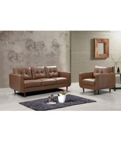 Leslie Leather Sofa Set