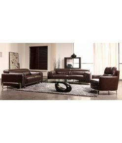 Oreon Leather Sofa Set