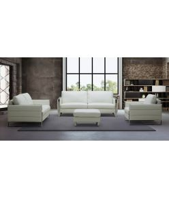 Aspen Leather Sofa / white