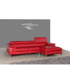 Clara Leather Sectional / Red