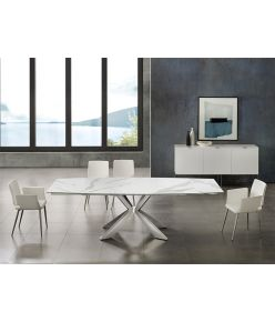 Egeo Extendable Table / White Ceramic