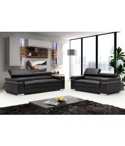 Lotto Leather Sofa / Black