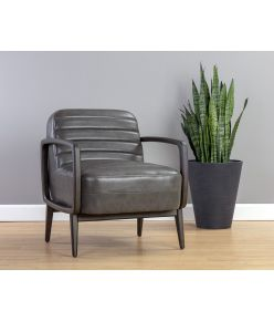 Andria Lounge Chair / Charcoal