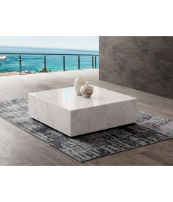 Cave Marble Table / White