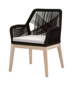 Loom Outdoor Arm Chair / Black