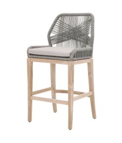 Loom Outdoor Barstool / Platinum