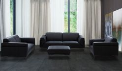 Canary Leather Sofa / Black