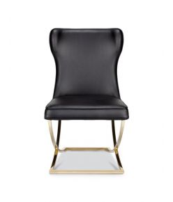 Aston Dining Chair / Black - Gold