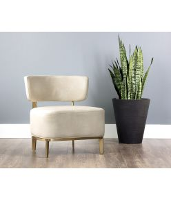 Sibylle Lounge Chair / Cream