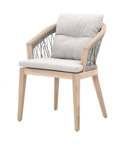 Web Outdoor Arm Chair / Platinum