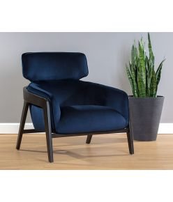 Adele Lounge Chair / Blue