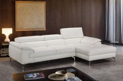 Clara Leather Sectional / White