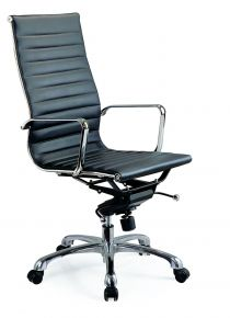 Comfy High Back Desk Chair / Black