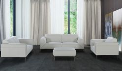Canary Leather Sofa / White