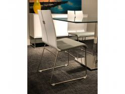 Lauren Dining Chair / White - Gray