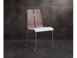 Lauren Dining Chair / Walnut - White