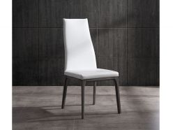Ricky Dining Chair / Gray Oak - White