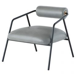 Cyrus Chair / French Blue Leather