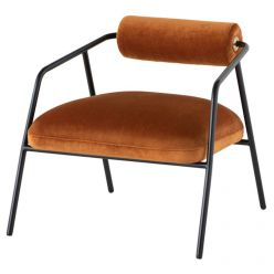 Cyrus Chair / Rust Velvet