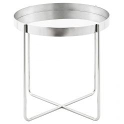 Gaultier Side Table / Silver