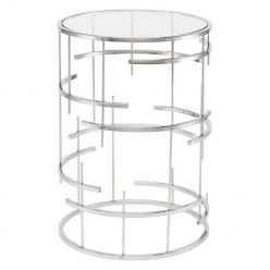Tiffany Side Table / Silver