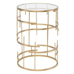 Tiffany Side Table / Gold