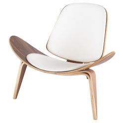 Artemis Chair Light Walnut / White