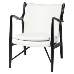 Chase Chair Black / White Leather