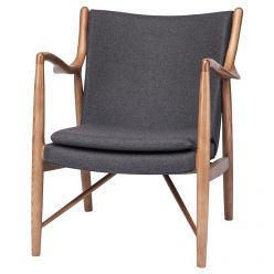 Chase Chair Walnut / Grey Fabric
