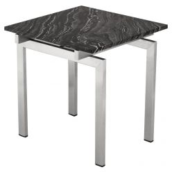 Louve Side Table Stainless / Black