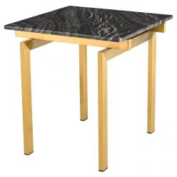 Louve Side Table Gold / Black