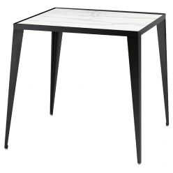 Mink Side Table Black / White