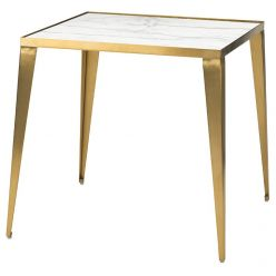 Mink Side Table Gold / White