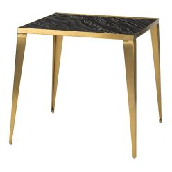Mink Side Table Gold / Black